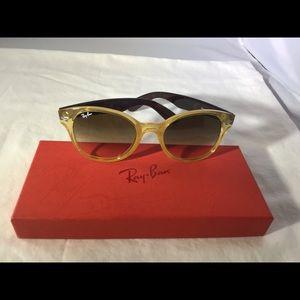 Yellow Rayban Round Opal Rb4141 76851 Sunglasses NkPnOwXZ80